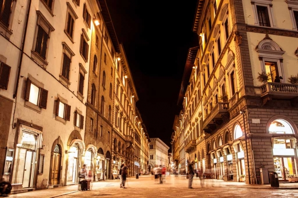 Luxury shopping in Florence
